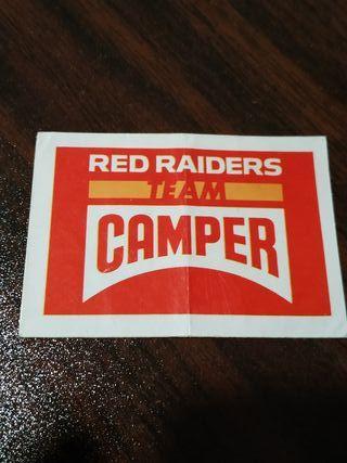pegatina Camper Red Raiders Bollycao marcas