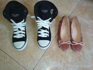Lote Zapatos. bailarines, deportivas. talla 31