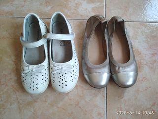 Lote Zapatos de niña, bailarines. Talla 30