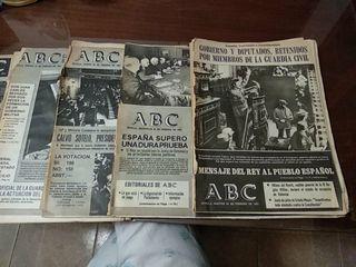 periódicos antiguos del golpe de estado 1981