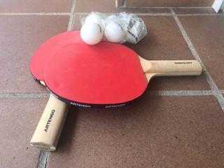 Palas ping pong + 5 pelotas