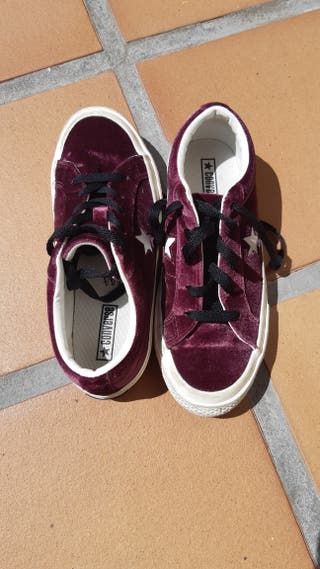 Zapatillas Converse terciopelo