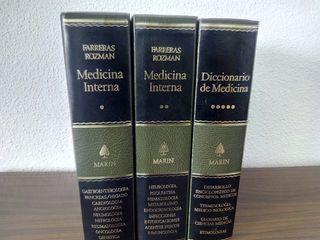 Libros de medicina interna + Diccionario