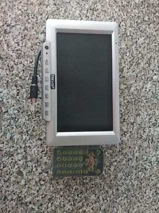 TFT LCD color monitor con mando a distancia