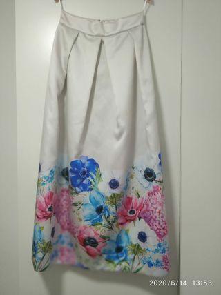 Falda larga de fiesta