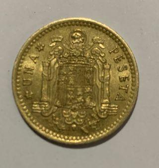 Moneda antigua española De 1 Peseta De 1966