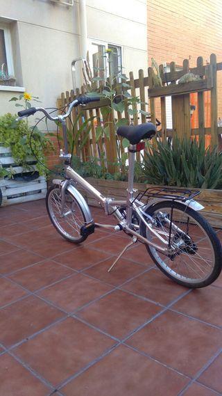 bicicleta plegable monty aluminium 7005