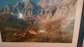 Lote de 2 cuadros de paisajes.