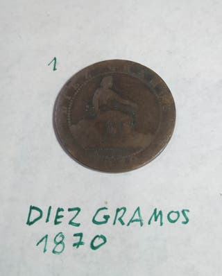 Moneda antigua 1870