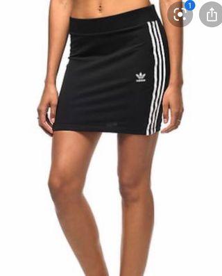 Black adidas skirt