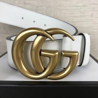Cinturon Gucci original 4cm blanco