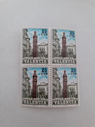 Bloque 4 sellos Plan Sur