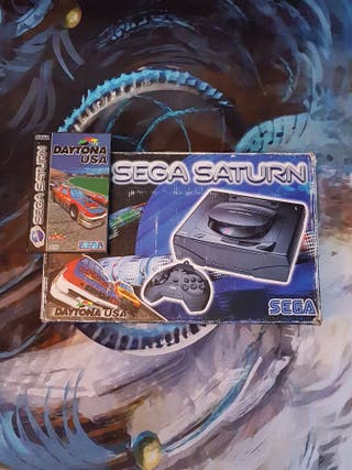 Consola Sega Saturn con caja y Daytona USA
