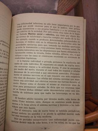 Antiguo Libro Higiene y Medicina Casera 1949