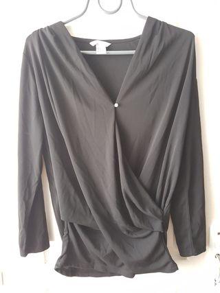 blouse fluide drapée M