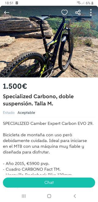 specialized carbon doble suspension
