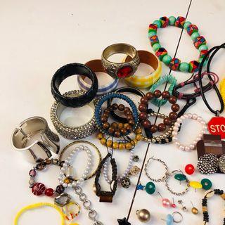 Lote collar pulsera pendiente anillo
