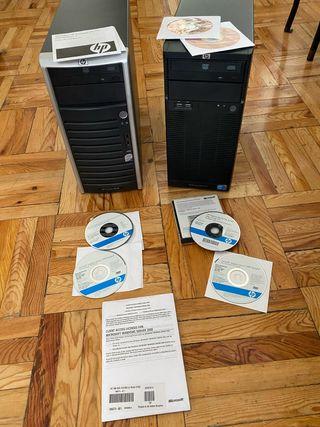 2 SERVIDORES HP PROLIANT G5 Y G6