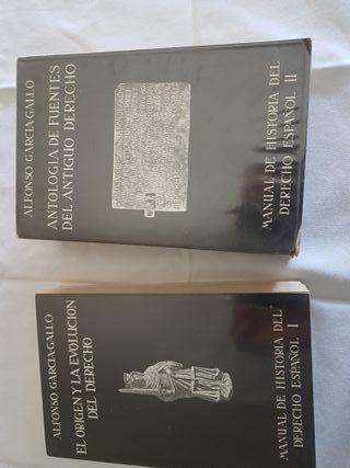 libros historia de derecho español I y II