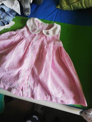 vestido bebé rosa