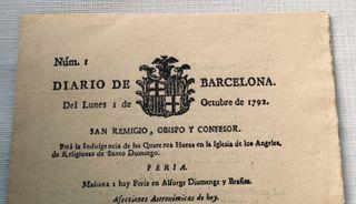 Diario año 1792 Periódico Documento Antiguo