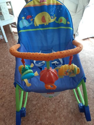 Hamaca bebé fisher price azul
