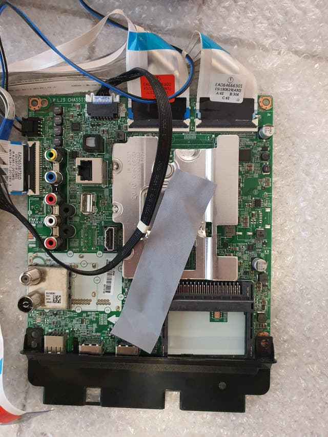 placa base + fuente alimentación LG