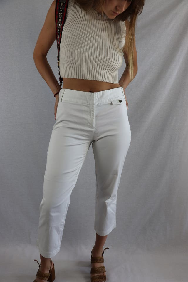 Pantalon Tommy Hilfiger blanco Talla 8 (S) de segunda mano ...