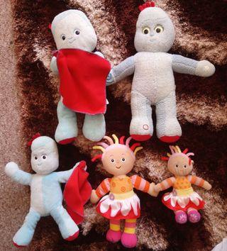 In the night garden soft toy bundle