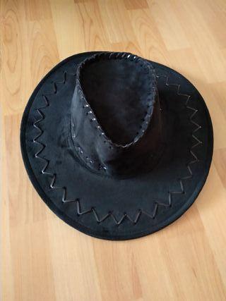 Sombrero cowboy de color negro