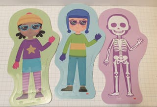 Puzzle silueta y esqueleto