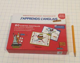 80 tarjetas para aprender ingles en francés