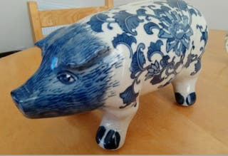 Vintage Sculptures Hand Made Piggy Bank