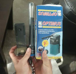 calentador pecera y filtro