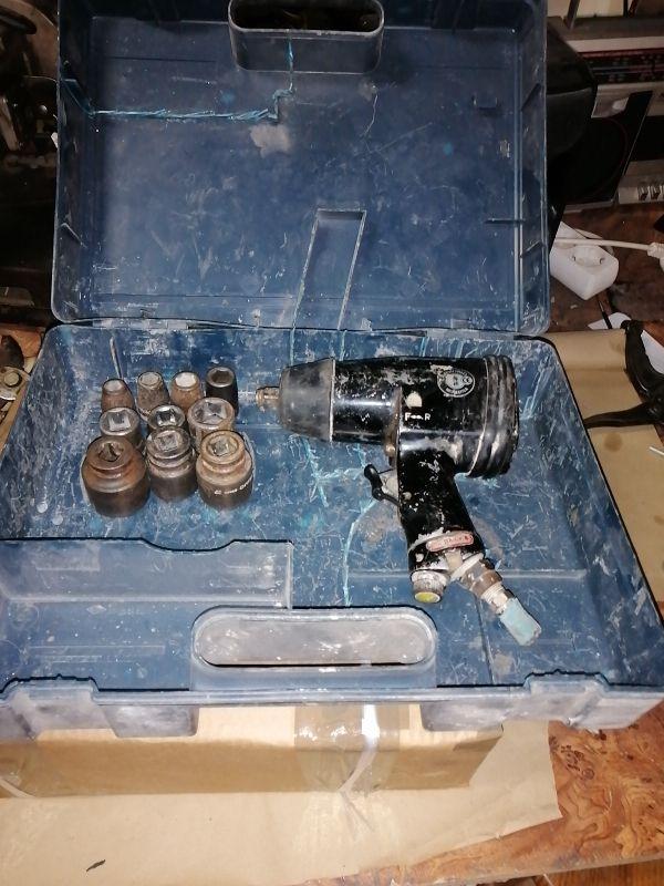 pistola de aire con vasos reforzados