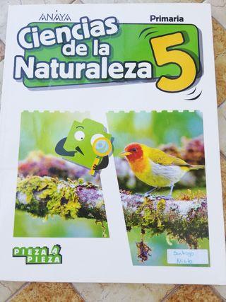 libro ciencias de la naturaleza, Anaya 5 primaria
