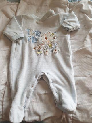 Pijama terciopelo 1-3 meses