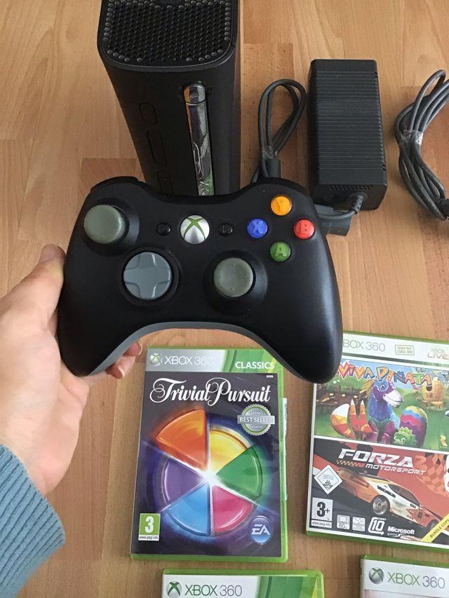 Lote xbox360 120GB con mando y juegos