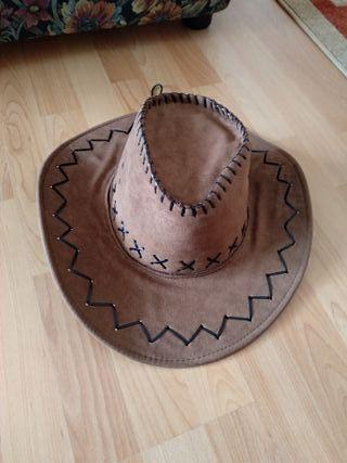 Sombrero cowboy de color marrón