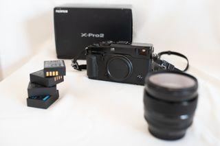 Fujifilm x-pro2 + 23mm 1.4 + 3 baterias