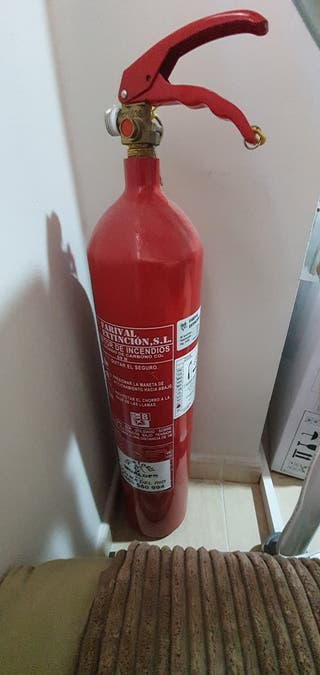 extintor vacío
