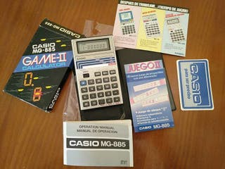 CALCULADORA JUEGO CASIO MG-885 GAME II ELECTRONIC