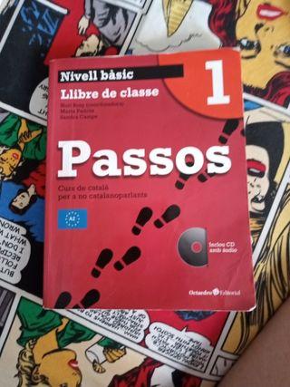dos libros de curso de catala basic