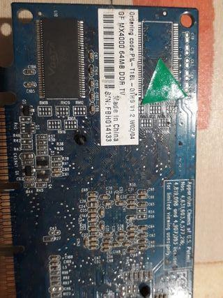tarjeta gráfica GF MX4000
