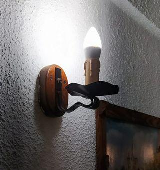 Aplique de luz vela
