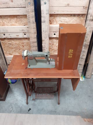 máquina coser antigua marca alfa mueble original