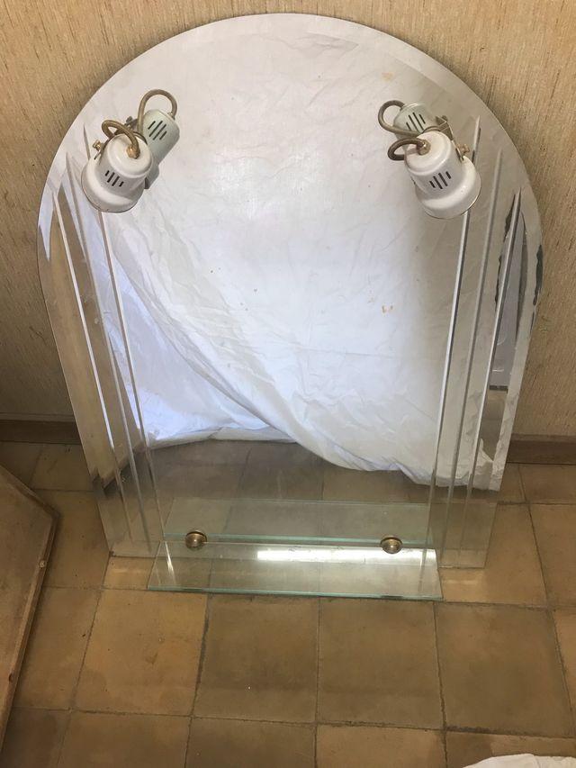 Espejo de baño con balda