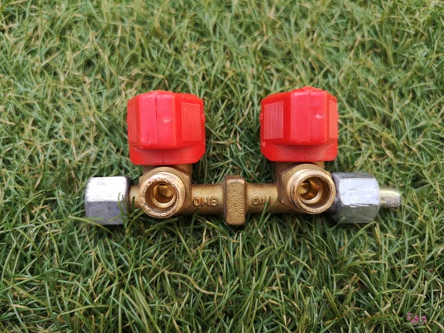 Llave de paso de gas de 2 vías