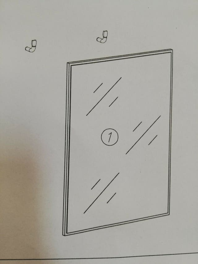 Recibidor Binefar, modulo colgante con espejo