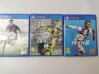 PACK FIFA (FIFA 15, FIFA 17, FIFA19) PS4